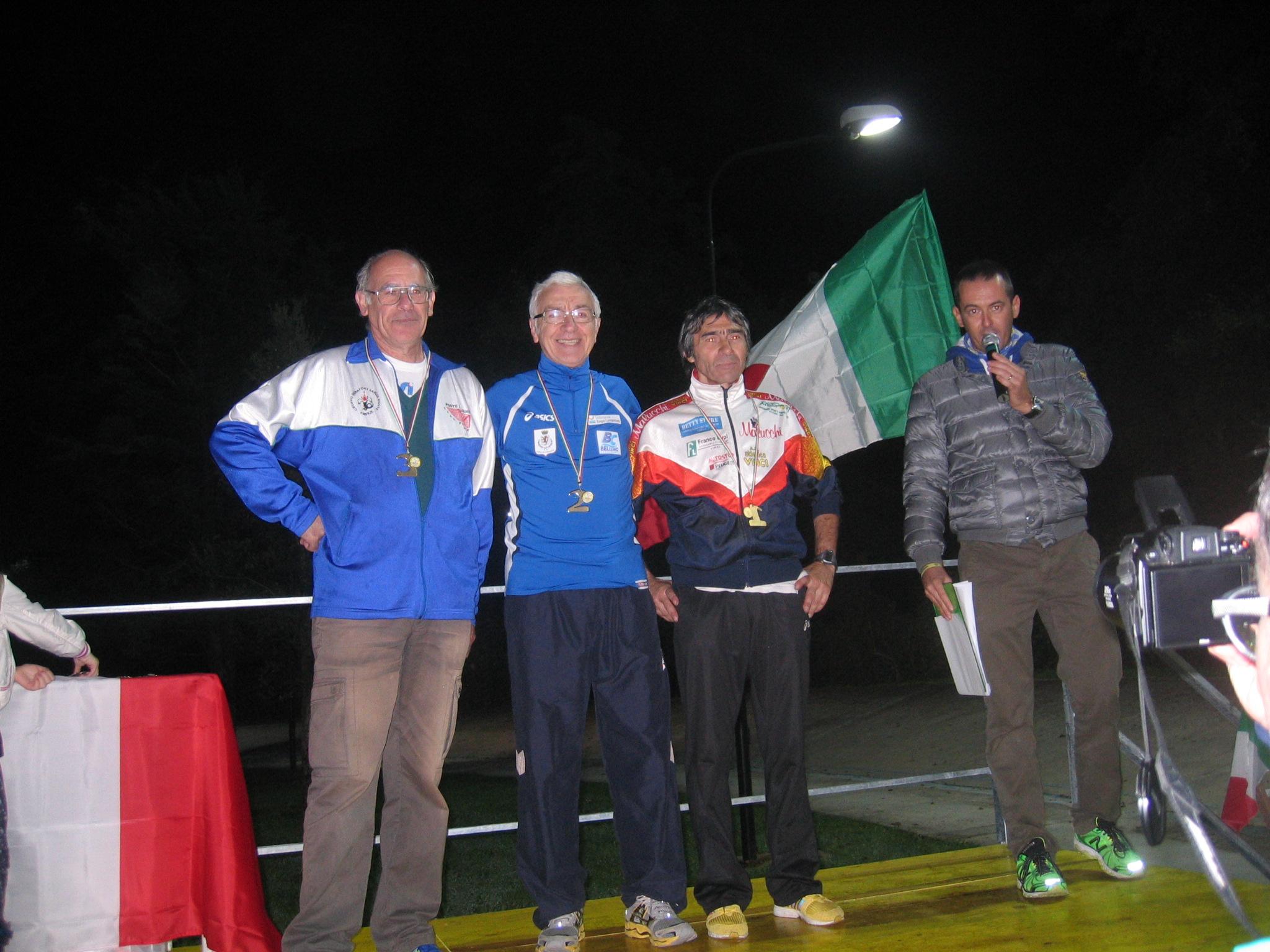 podio 100m argento
